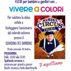"""Mr Big Circus domenica 15 settembre nel magico """"Giardino dei Bambini"""""""