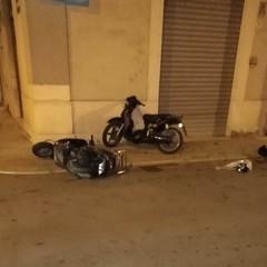 Incidente stradale con tre feriti in pieno centro ad Andria