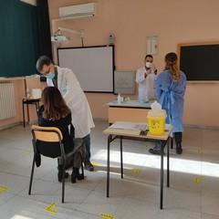 """docenti vaccinati al liceo Classico """"Troia"""" di Andria"""
