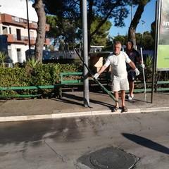la cura dei giardinetti di piazzale Giuseppe Colasanto