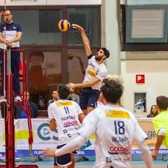 Andria Italia Ottobre Serie B girone E Florigel Pallavolo Andria Vs CLT Terni Nella Foto Franco Bortoletto schiacciata