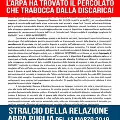 stralcio della relazione dell'Arpa Puglia
