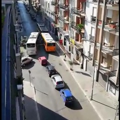 ingorghi su viale Venezia Giulia nei pressi della stazione Bari nord