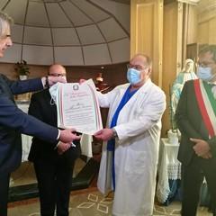 cerimonia presso l'ospedale di Bisceglie