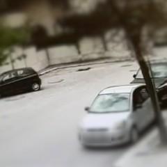 le foto del furto in via delle Querce