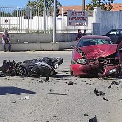 Incidente stradale su via Canosa