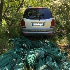 auto rubate ritrovate in contrada Castel del Monte