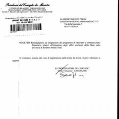 Il provvedimento di Palazzo Chigi che ha sbloccato i fondi