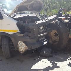 incidente stradale via Montefaraone