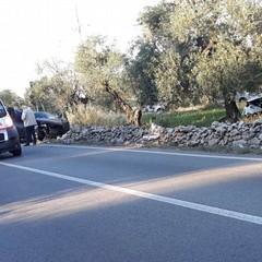 incidente stradale sulla strada verso Castel del Monte