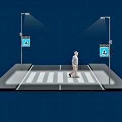 Segnaletica pedonale e rallentatori stradali