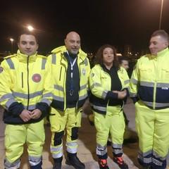 i volontari di Andria nella colonna mobile pugliese