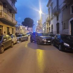 incidente stradale nel centro cittadino