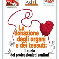 Attività di formazione sulla donazione d'organi presso la Asl/Bt