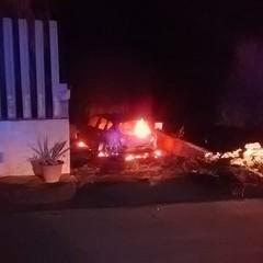 Auto data alle fiamme nei pressi di via vecchia Canosa