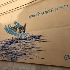 murales su di una parete di Casa Accoglienza S. Maria Goretti