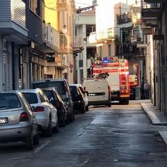 incendio armadietto stradale Enel