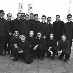 Foto di un gruppo di seminaristi del passato