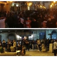 Due delle immagini postate su fb: via R. Margherita e piazza Catuma