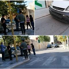 Spettacolare incidente tra via Duca di Genova e corso Cavour