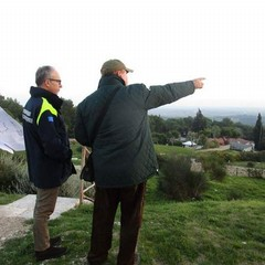 Francesco Martiradonna con Giovanni De Trizio della Protezione civile