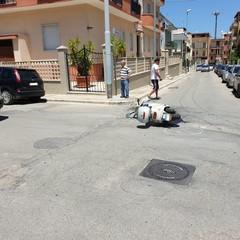 Incidente auto scooter zona La Specchia