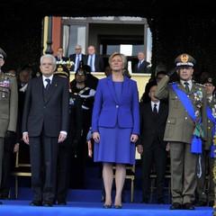 Il Presidente della Repubblica durante la cerimonia