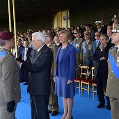 Il Presidente Mattarella conferisce la croce di bronzo al merito dellesercito al Capitano Vincenzo Martella JPG