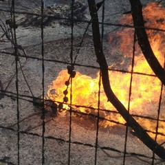 incendio villa confiscata