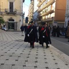 Carabinieri in alta uniforme per le strade di Andria