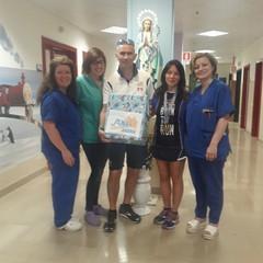 Associazione Maratoneti Andriesi questa mattina nell'ospedale di Padre Pio