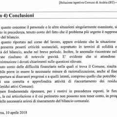 conclusioni della relazione del Mef