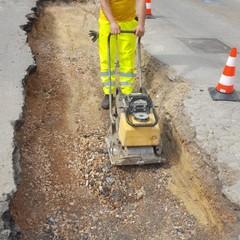 Eseguiti lavori stradali in via Verdi da parte dell'AndriaMultiservice