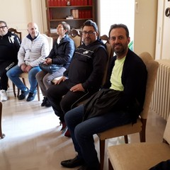 Delegazione di commercianti ricevuta dal Vescovo Mansi