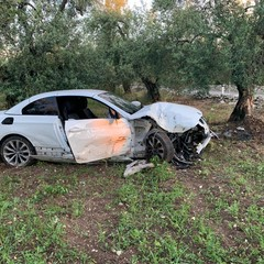 incidente stradale su via Castel del Monte