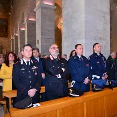Le forze dellordine presenti alla Santa Messa