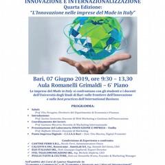 """4^ edizione su """"L'Innovazione nelle imprese del Made in Italy"""""""