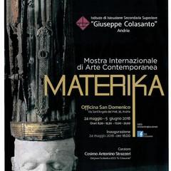 locandina Mostra Internazionale di Arte Contemporanea MATERIKA pdf