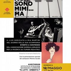 Locandina Non sono Mim ma concerto maggio Auditorium IISS Lotti Umberto I ore Andria BT
