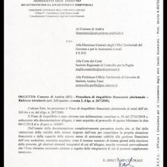 lettera Ministero dell'Interno