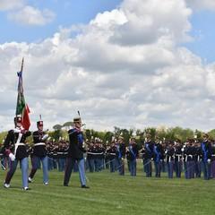 Momento della cerimonia con Bandiera di Guerra dellEsercito