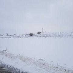 neve nella zona di Castel del Monte