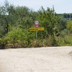 Bitumazione  della strada per San Vittore