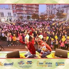 Un momento della Festa del Ciao in piazza Catuma ad Andria