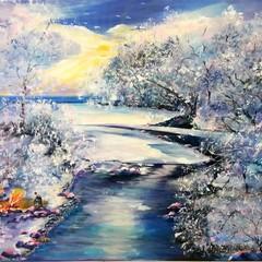 Neve sul fiume Ofanto