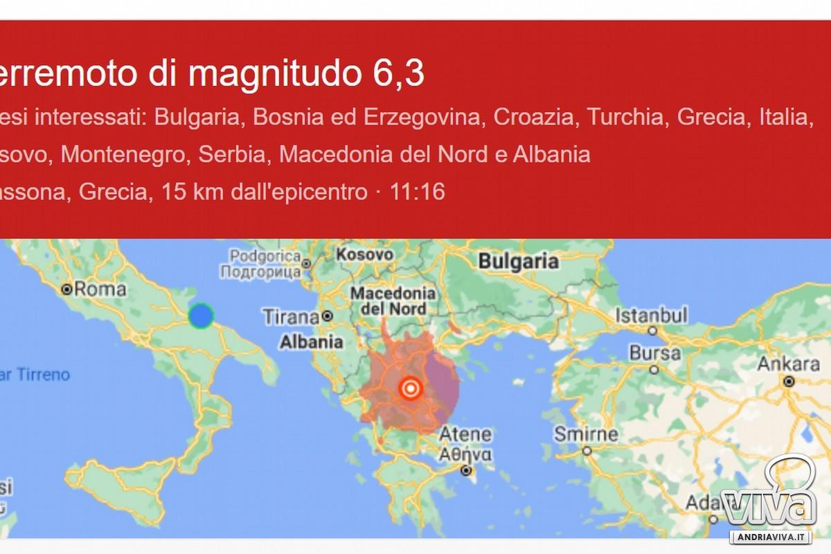 terremoto google