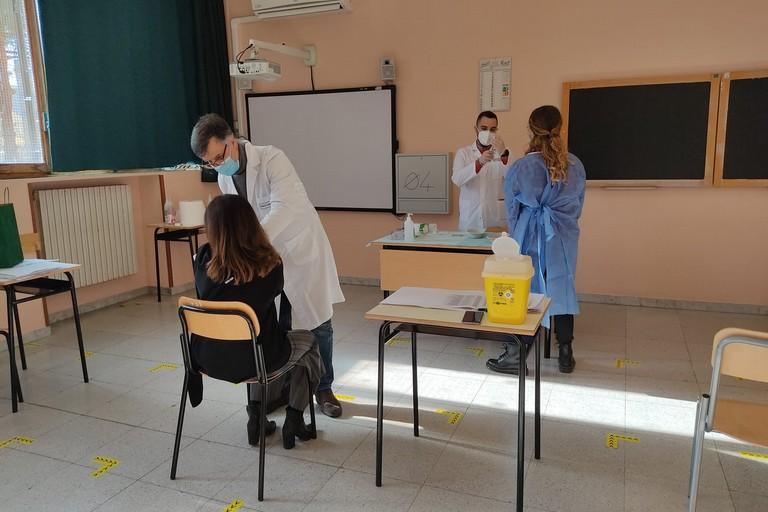 docenti vaccinati al liceo Classico