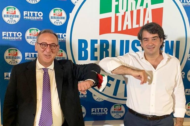 Antonio Scamarcio con Raffaele Fitto