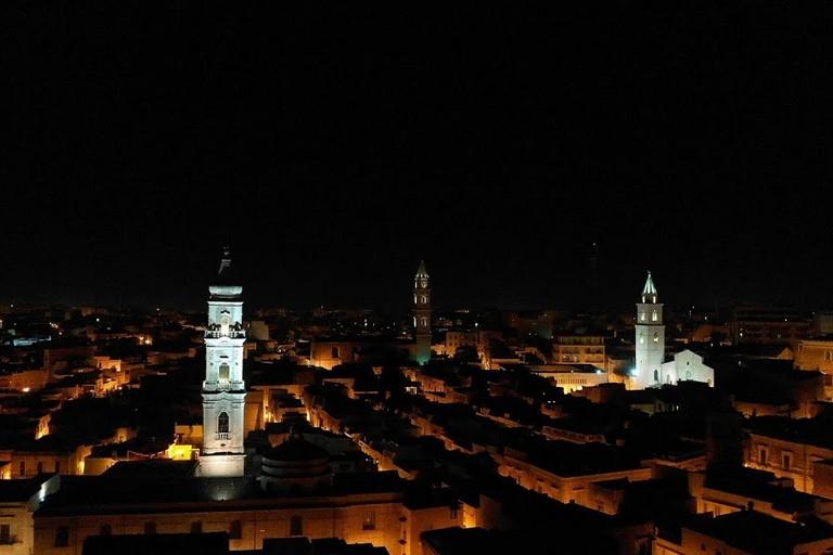 panorama notturno di Andria