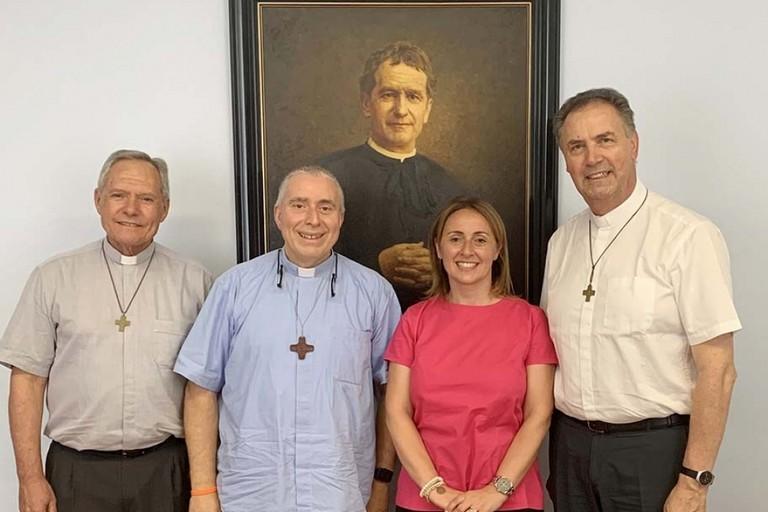 la sindaca di Andria in visita a Roma dal Rettor Maggiore dei Salesiani
